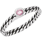 Stackable Pink CZ Ring