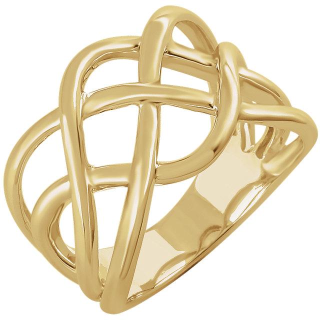 14kt Yellow Criss-Cross Ring