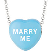 Marry Me Sweethearts® Enamel Heart Shaped Necklace