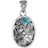 Abalone Dragonfly Pendant Enhancer