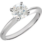 Created Moissanite Solitaire Ring