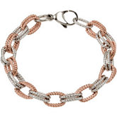 Amalfi™ Rose Gold Immersion Plated Stainless Steel  Bracelet with Immerse Plating
