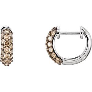 Diamond or Gemstone Pave Hoop Earrings