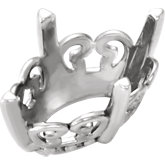 Oval 4 Prong Butterfly Scroll Setting