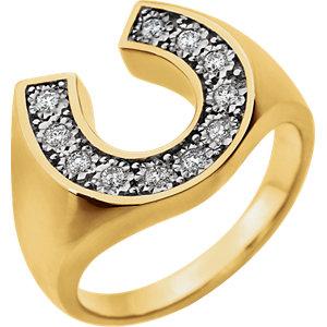 14K Two-Tone 1/4 CTW Diamond Men's Ring