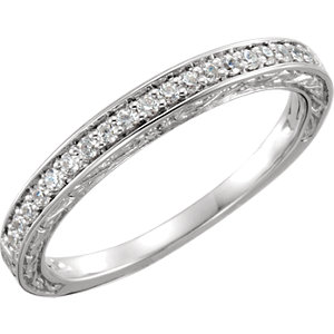 Diamond Accented Semi-Mount Engagement Ring or Band