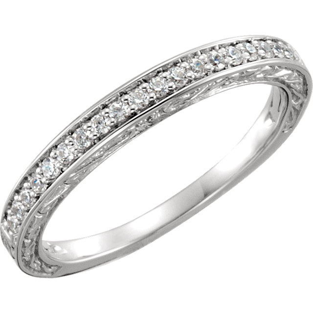 14K White 1/5CTW Diamond Band