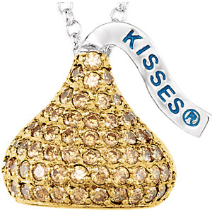 Sterling Silver November<br> HERSHEYS KISSES® Aubic<br> Zirconia 16-1