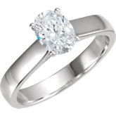 Cathedral Style Solitaire Engagement Ring Mounting