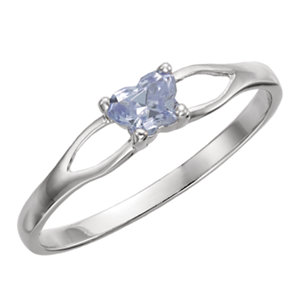 Sterling Silver Bfly® June AZ Birthstone Ring