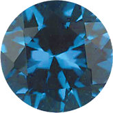 Round Imitation Blue Zircon
