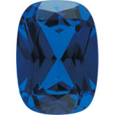 Antique Cushion Chatham Created Blue Sapphire