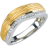 Two-Tone Diamond Anniversary Band