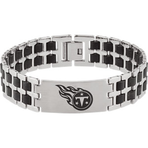 Diamond Princess Stainless Steel & Rubber Tennessee Titans Team Logo Bracelet at Sears.com