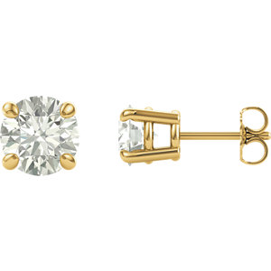 Created Moissanite Stud Earrings