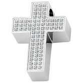 Amalfi™ Stainless Steel Cross Pendant with CZ's