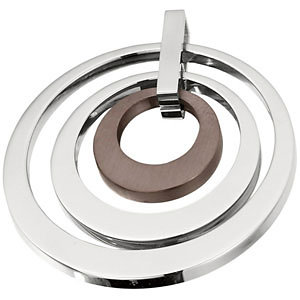 Amalfi™ Stainless Steel Circle Pendant or Necklace