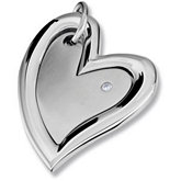 Amalfi™ Stainless Steel Heart Pendant with CZ