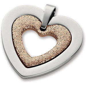 Amalfi™ Stainless Steel Glitter Heart Pendant with Immersion Plate