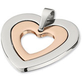 Amalfi™ Stainless Steel Heart Pendant with Immersion Plate
