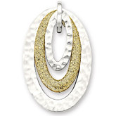 Amalfi™ Stainless Steel Oval Pendant with Hammered Finish and Immersion Plate