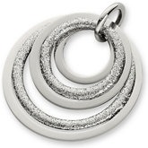 Amalfi™ Stainless Steel Circle Glitter Pendant or Necklace