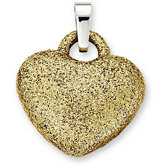 Amalfi® Stainless Steel Immerse Plated Heart Pendant or Necklace