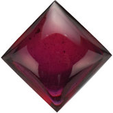 Square Genuine Brazilian Garnet