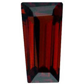 Tapered Baguette Genuine Mozambique Garnet