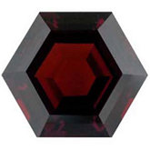 Genuine Garnet Mozambique - Hexagon Faceted -Non-Returnable; AA Quality; Dark Orange Red