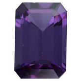 Genuine Garnet Color Change - Emerald/Octagon Faceted -Non-Returnable; AA Quality; Bluish Green/reddish Purple