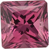 Square SWAROVSKI GEMS™ Genuine Pink Rose Garnet
