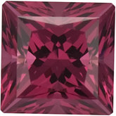 Square SWAROVSKI GEMS™ Genuine Raspberry Garnet