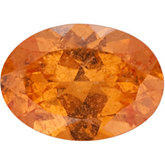 Genuine Garnet Spessartite - Oval Faceted -Non-Returnable; B Quality; Orange