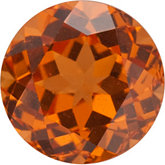 Genuine Garnet Spessartite - Round Faceted; A Quality; Orange