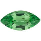 Genuine Garnet Tsavorite - Marquise Faceted; AA Quality; Green