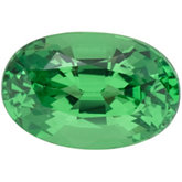 Genuine Garnet Tsavorite - Oval Faceted -Non-Returnable; AA Quality; Green