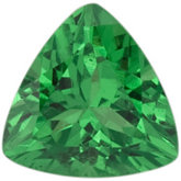 Genuine Garnet Tsavorite - Trillion Faceted; AAA Quality; GREEN