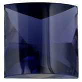 Genuine Iolite - Square Buff Top Faceted Bottom -Non-Returnable; AA Quality