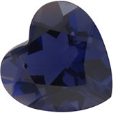 Genuine Iolite - Heart Shape Faceted; AA Quality