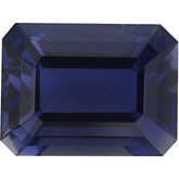 Genuine Iolite - Emerald/Octagon Faceted -Non-Returnable; AA Quality