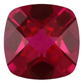Antique Square Imitation Ruby