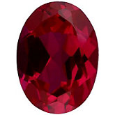 Oval Imitation Ruby