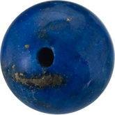 Round Genuine Lapis Bead