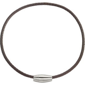 Leather & Stainless Steel Necklace