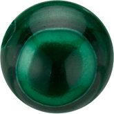 Round Genuine Malachite Bead
