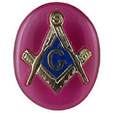 Oval Red Masonic