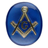 Oval Blue Masonic