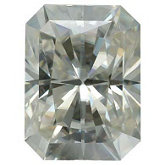 Emerald/Octagon Lab Created Moissanite