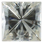 Charles & Colvard™ Created Moissanite - Square Princess; Very Good Quality